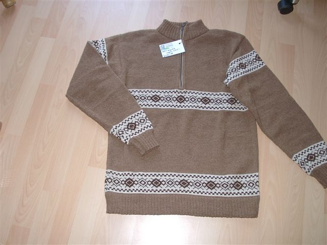 Alpaka-Pullover aus Babyalpaka, Naturtöne, ungefärbt